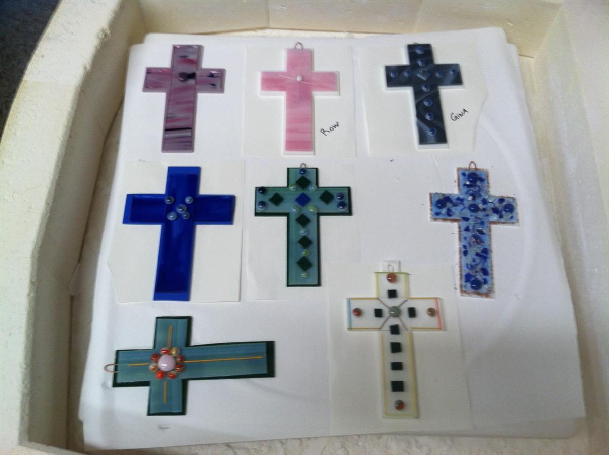 Fused Glass Cross
