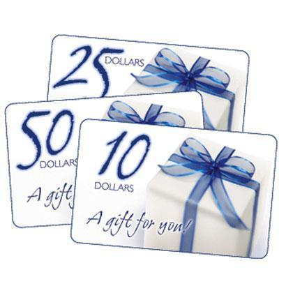 $25 Dollars Gift Certificate