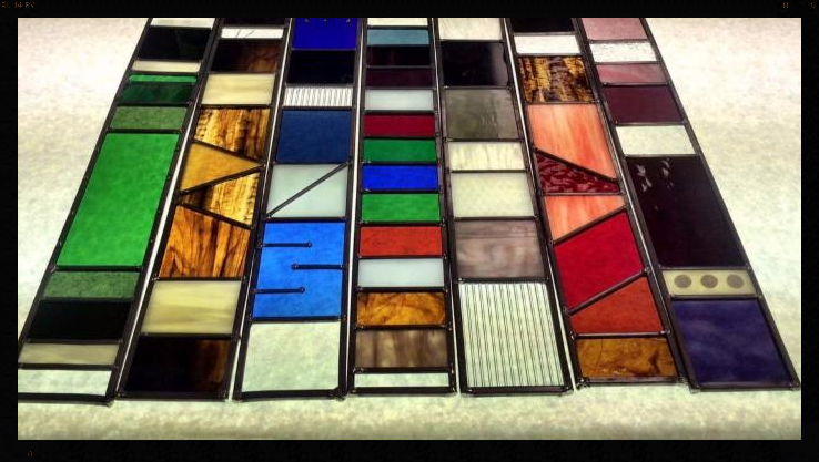 Leaded Glass Art Strip