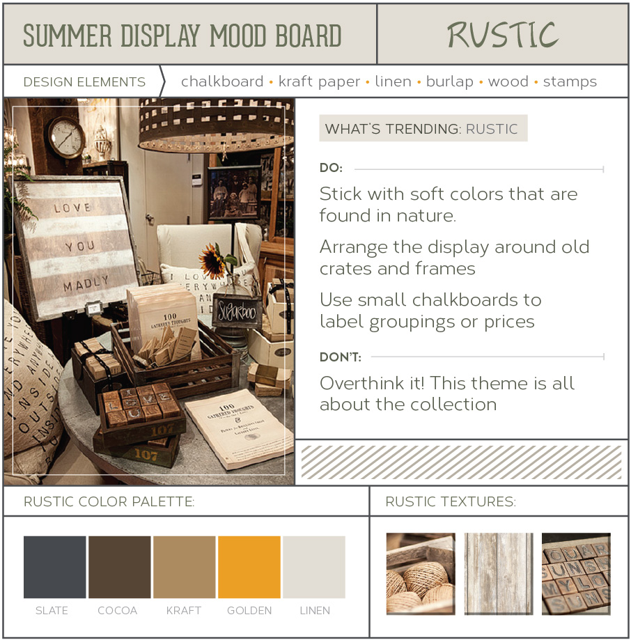 Rustic Theme store display