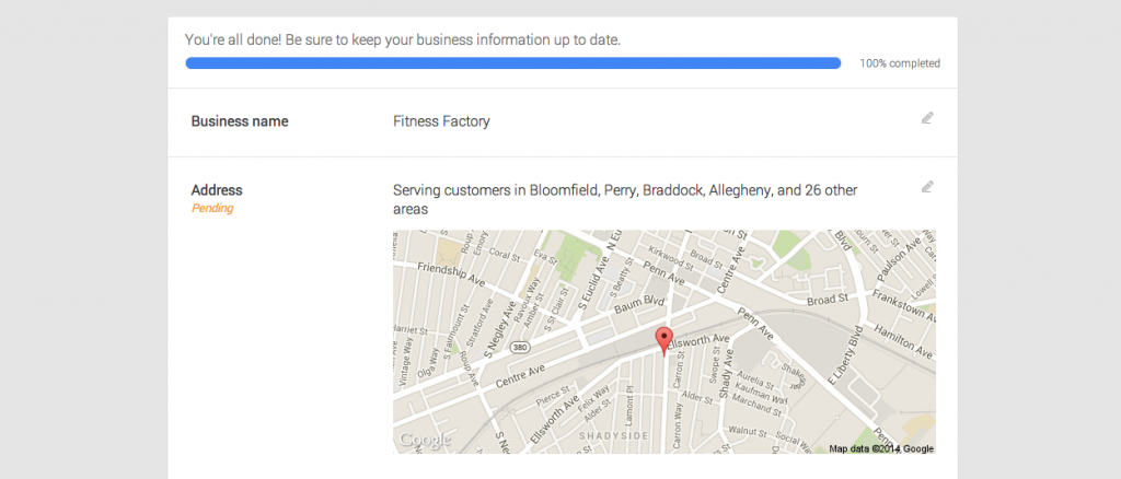 Choosing your Google business listing
