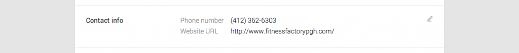 Editing the Contact info of your Google business listing