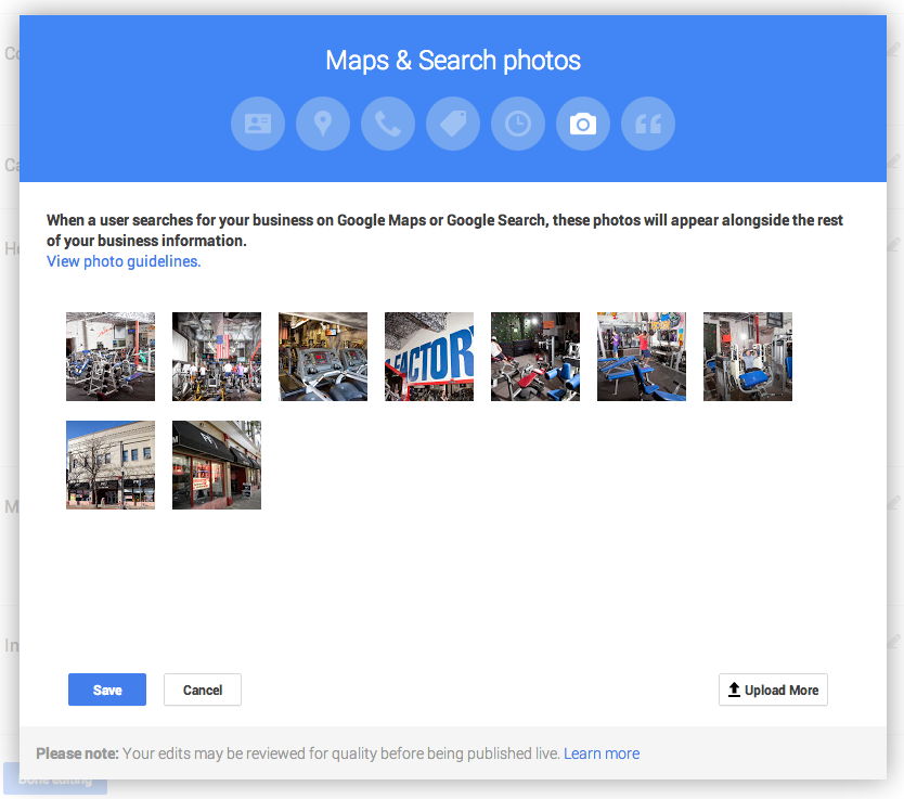 Adding photos to your Google business profile