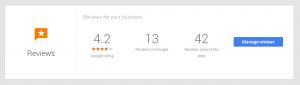 Managing Google business profile reviews
