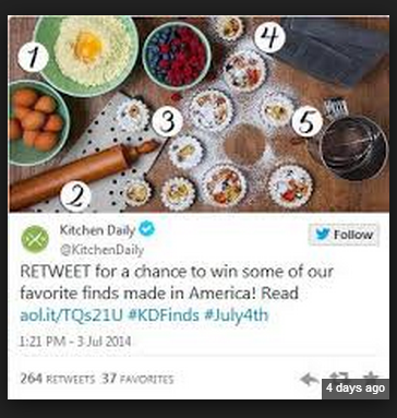 Using Twitter to enter a social contest
