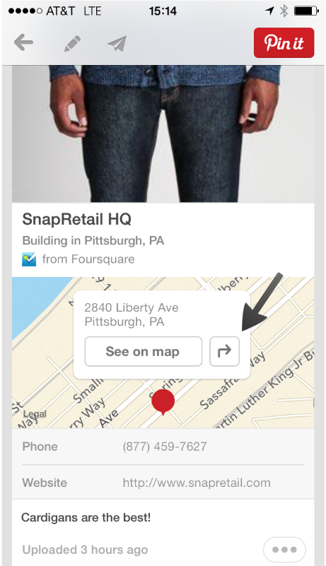 Click to get directions to the Place Pins