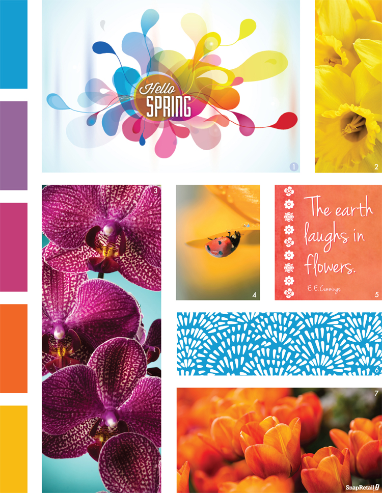 Spring Mood Board for Snap templates