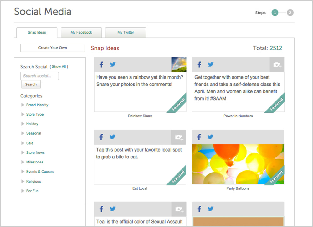 Selecting social media posts designed to get you noticed