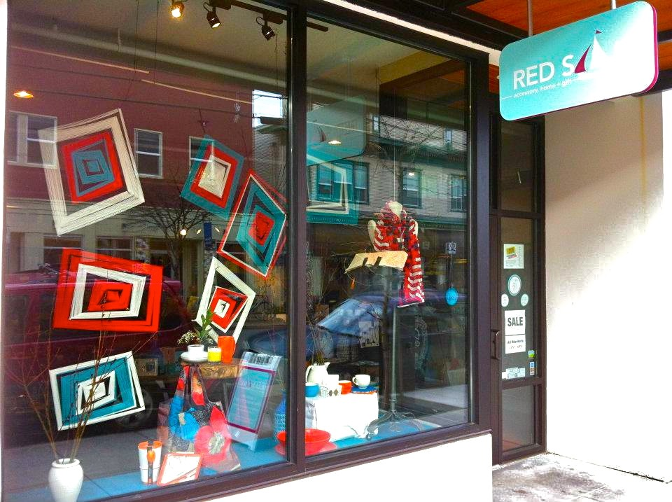 Window display with angles being used