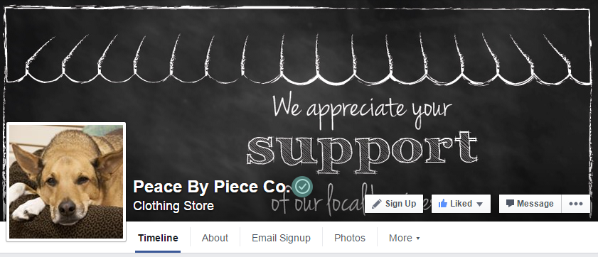 SnapRetail customer with verified Facebook business page
