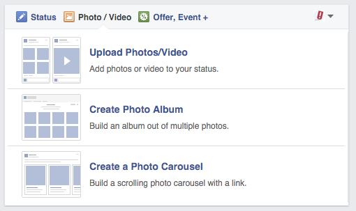 Facebook Image Carousel Example
