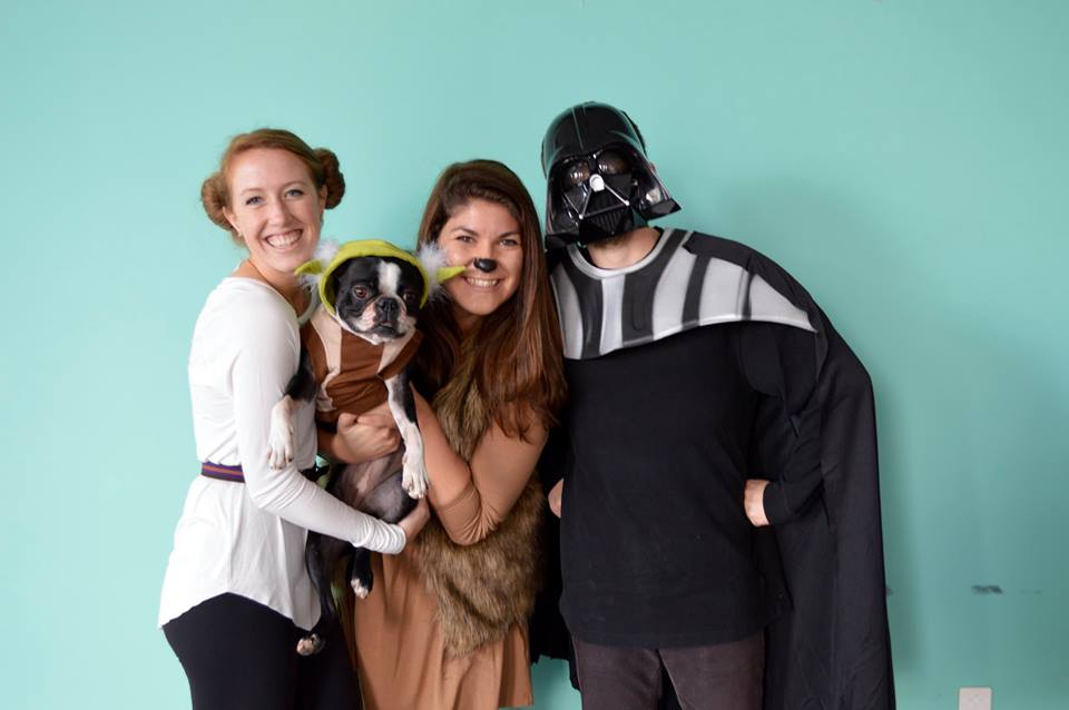 Kelly, Riley, Zoë and Brian in costumes