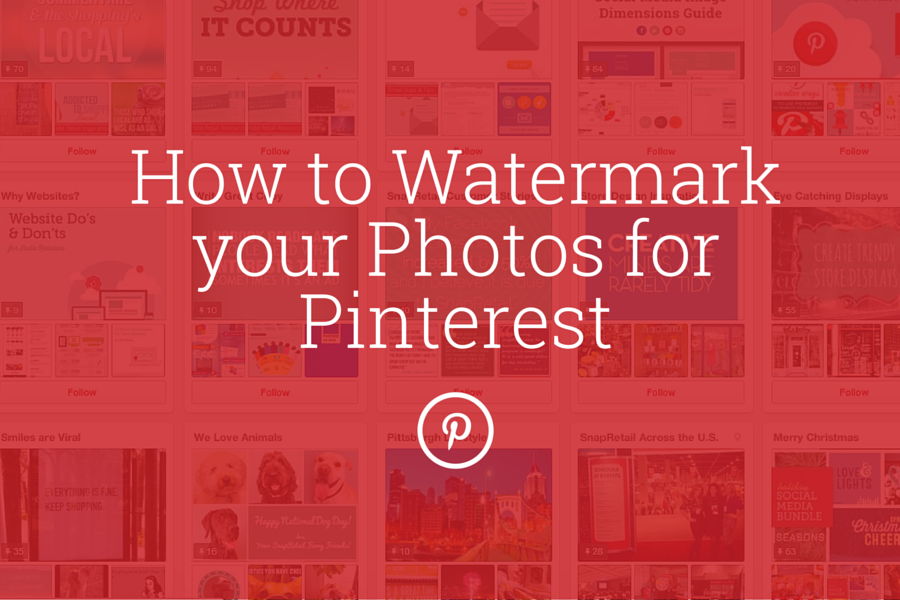 [BLOG] Watermark Your Photos