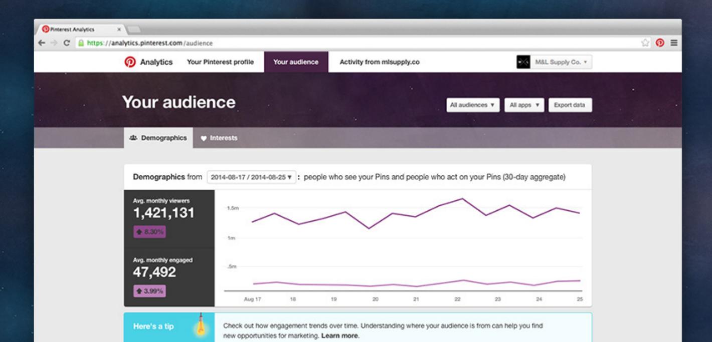 Pinterest Analytics: Using Your Pinterest Audience