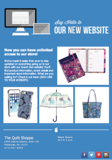 Our New Website Email Template