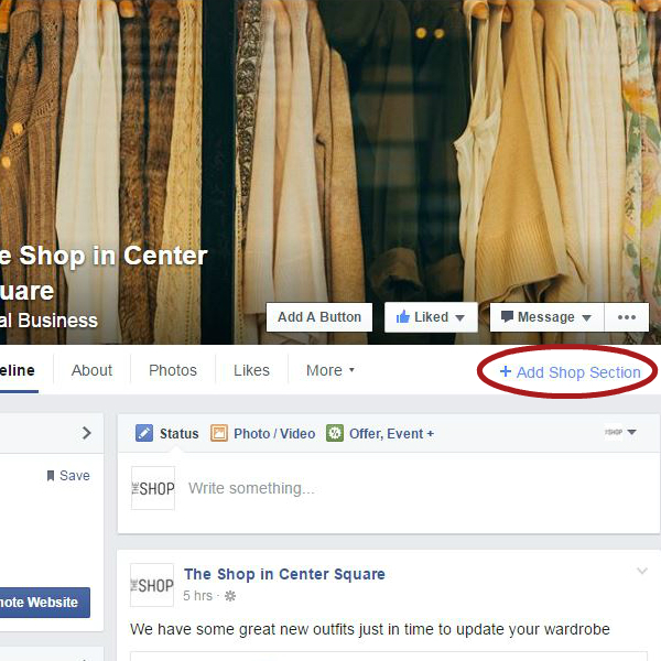Add a Shop Section on your account to Sell on Facebook