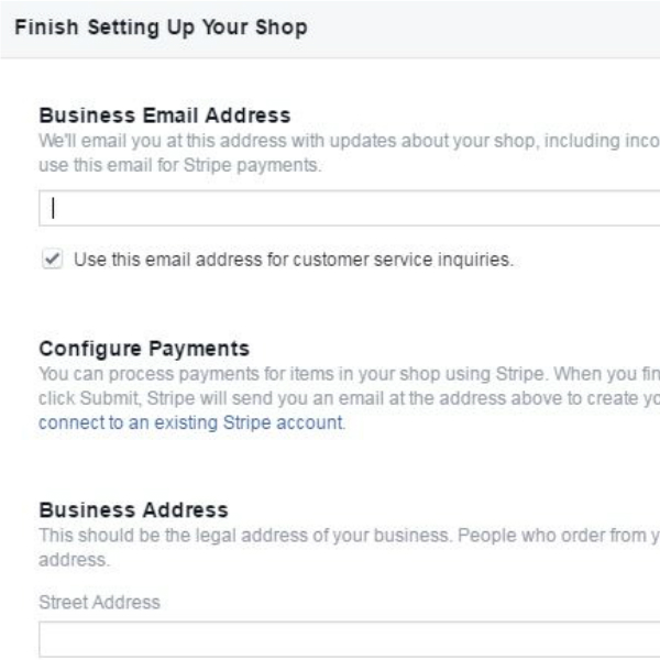 Finalize your store settings to sell on Facebook and increase your ecommerce business