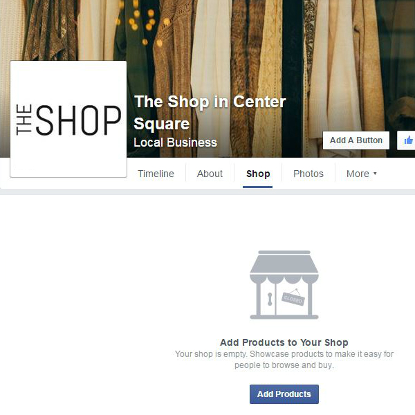 Finalize your store settings and start adding products to sell on Facebook