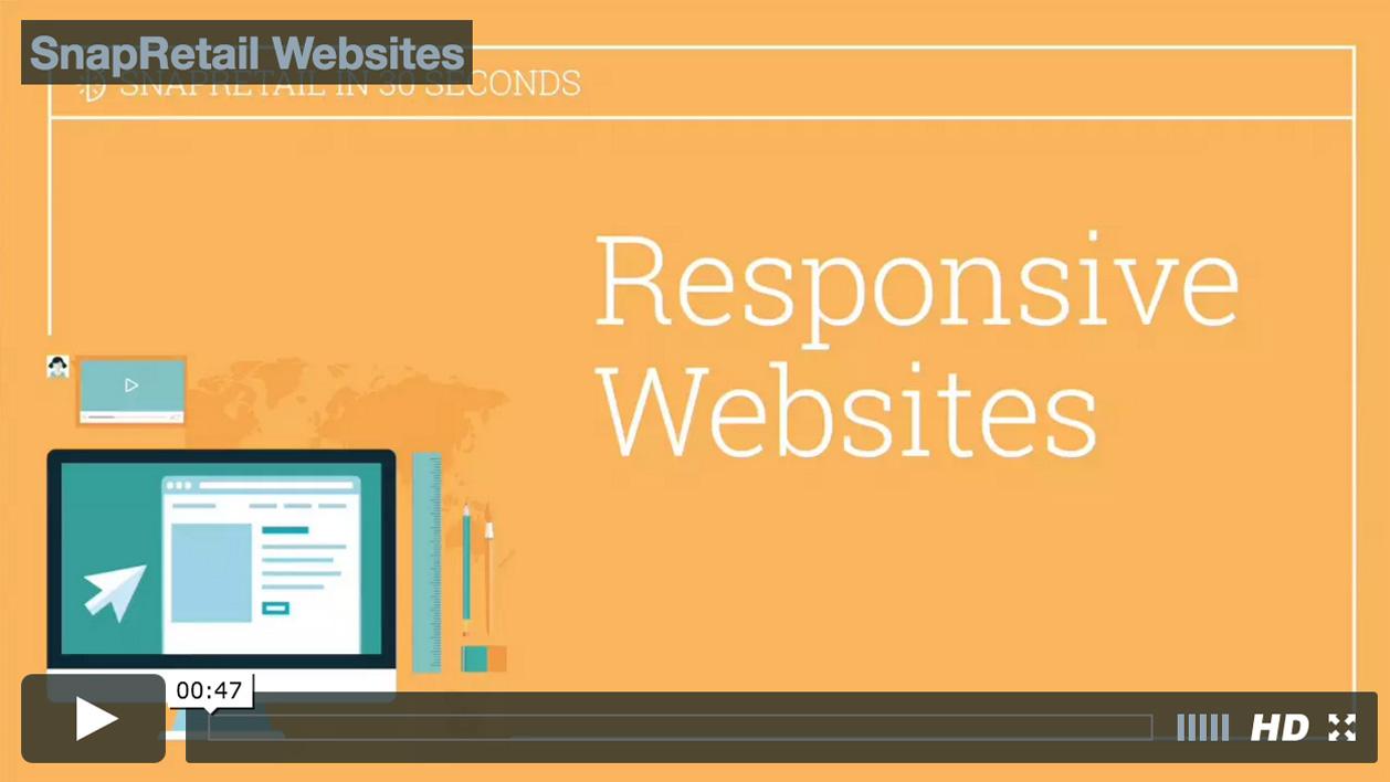 SnapRetail Responsive Website Video