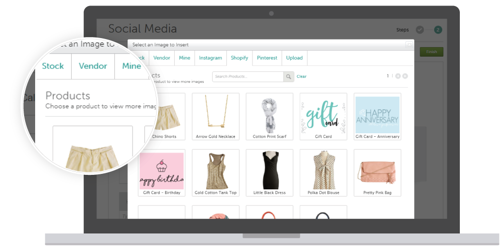 Use Your Shopify Product Images from Your E-Commerce Store in Your Email, Facebook, Twitter, and Pinterest Marketing with SnapRetail