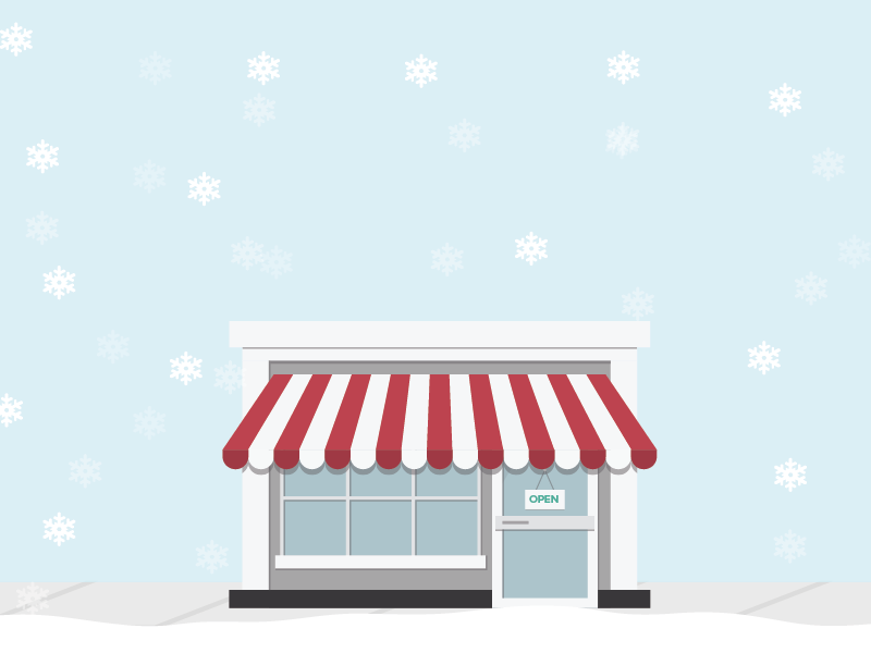Retail Storefront with Snow SnapRetail